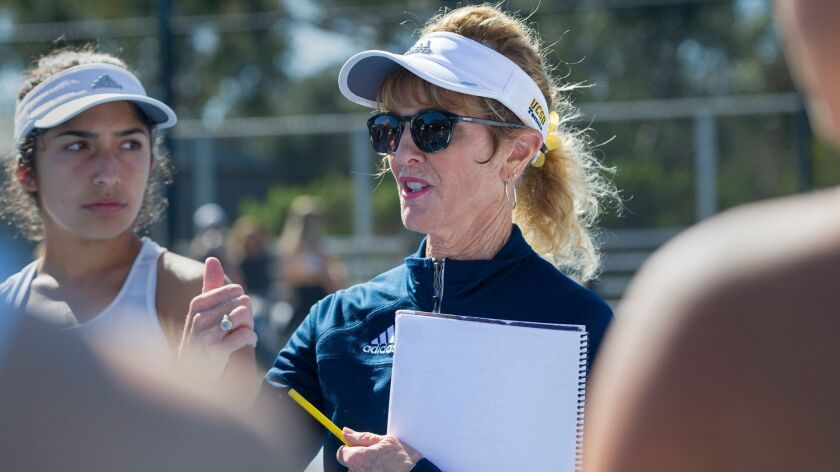 Liz LaPlante was hired as the UCSD women's tennis coach when she was a 21-year-old San Diego State graduate.