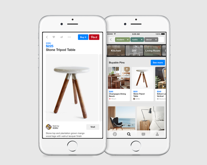 Pinterest is launching Buyable Pins, which will allow pinners to buy products directly on the site.