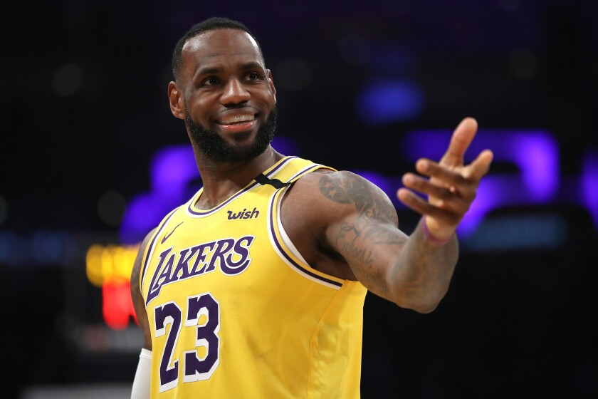 LeBron James and the Lakers could be back in action at the end of next m