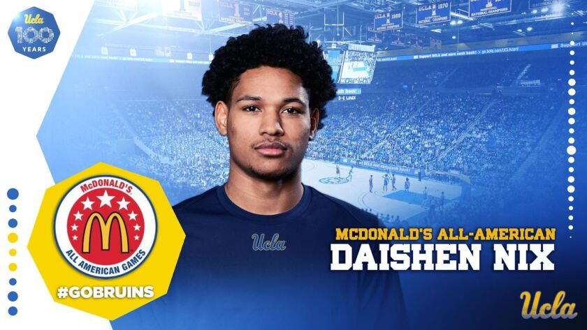 Daishen Nix, a five-star recruit who was the first player to sign with Mick Cronin at UCLA, will join the G League academy team instead of playing in college.