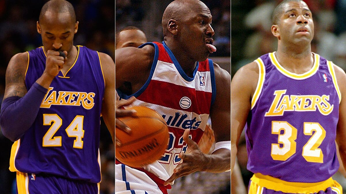 Kobe Bryant Isn T The Only Nba Icon To Limp Into Retirement Los Angeles Times
