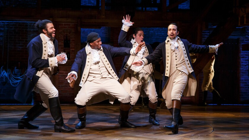 """Hamilton,"" winner of 11 Tony Awards and the Pulitzer Prize for drama, had an early reading in 2013 at an artistic incubator funded by the NEA."