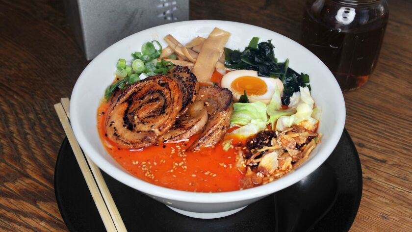 01.22.2018 -- Red Edition ramen. Rakiraki Ramen & Tsukemen in Kearny Mesa . (Rick Nocon/ For The San
