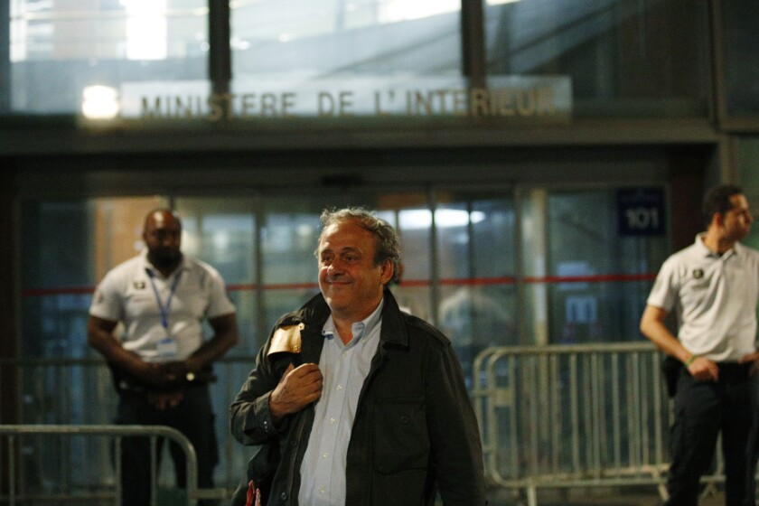 France Platini Human Rights Appeal