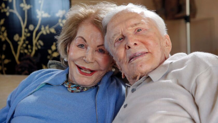 Anne and Kirk Douglas.