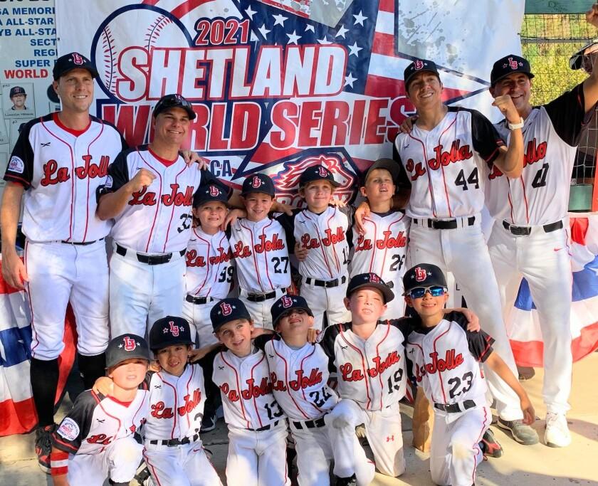 The La Jolla Youth Baseball Shetland team