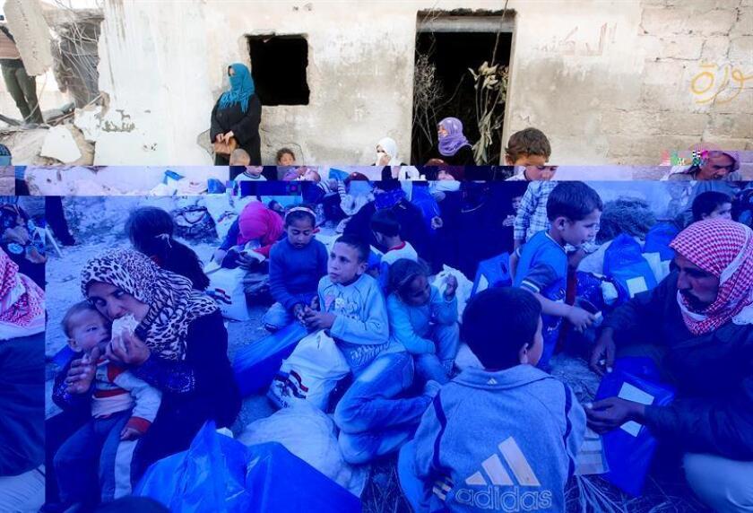 El Consejo de Seguridad de la ONU prorrogó hoy las medidas en vigor para facilitar el suministro de ayuda humanitaria a la población siria, incluida la entrega de asistencia a través de las fronteras del país. EFE/ARCHIVO