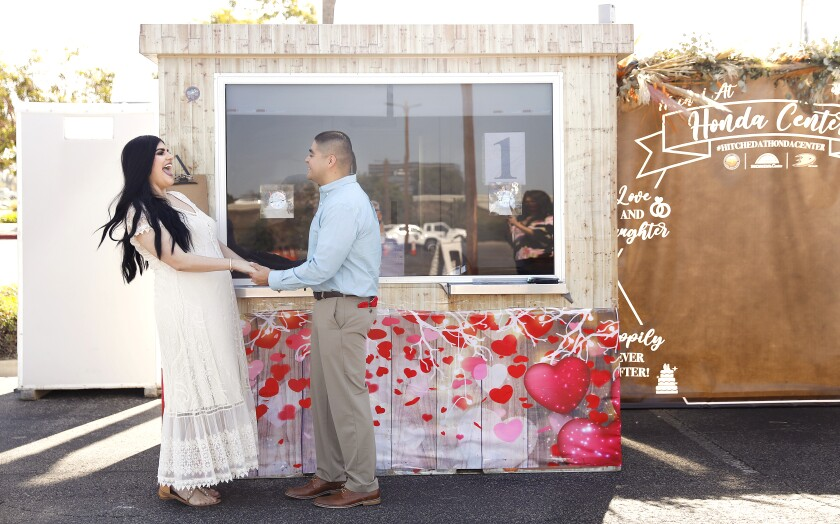 Covina couple Jessica Gatdula and Gregory Gatdula got married in Anaheim in April 2020.