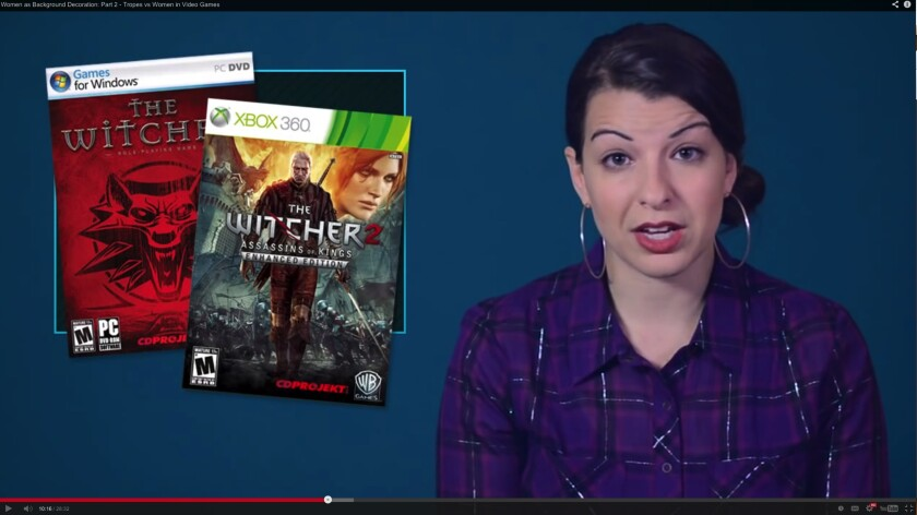 Pop culture critic Anita Sarkeesian, who critiques video games for the Feminist Frequency.