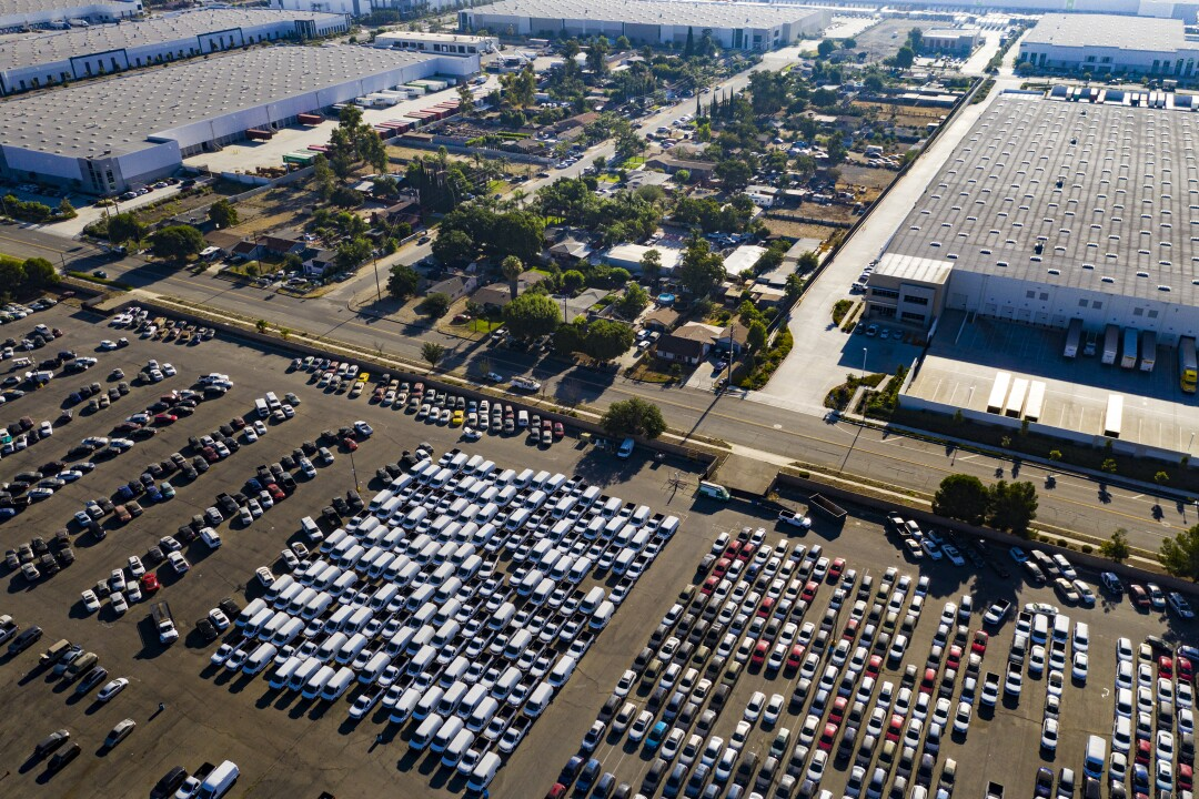 Distribution centers have been squeezing out Fontana residents.