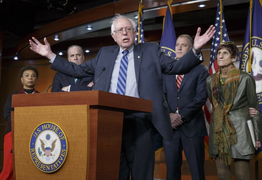 Sen. Bernie Sanders (I-Vt.) joins House Democrats in stating their disagreement and disappointment with President Obama's State of the Union request for fast track trade authority.