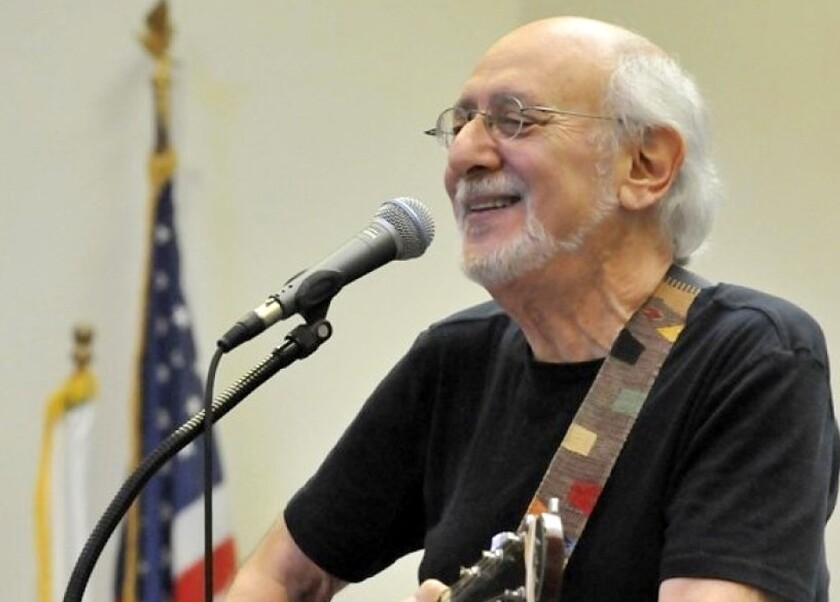 Peter Yarrow — the Peter in Peter, Paul and Mary — will perform a solo concert at a La Jolla home, Feb. 28.