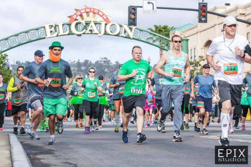 St. Patrick's Day half marathon and 5k in El Cajon.