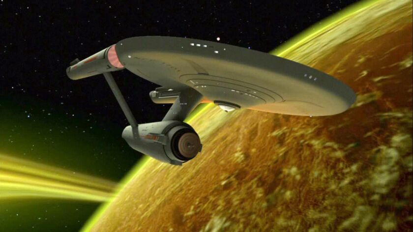 """The USS Enterprise from """"Star Trek: The Original Series."""" CBS All Access has ordered a new animated series """"Star Trek: Lower Decks,"""" to be developed by """"Rick and Morty"""" alum Mike McMahan."""