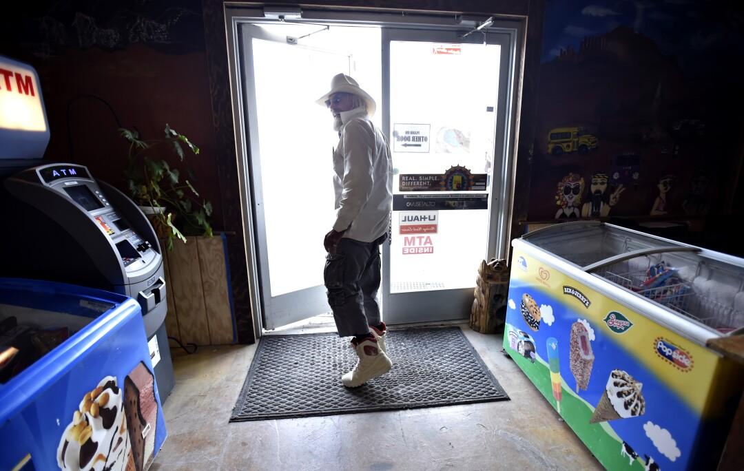 Michael Hopkins exits the Empire Store