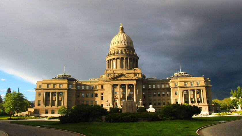 The Idaho State Capitol building, completed in 1912, was inspired by St. Peter's Basilica in Rome,