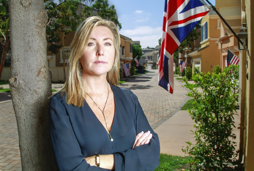 Shannon Glover's HOA has told her to take down the British flag.