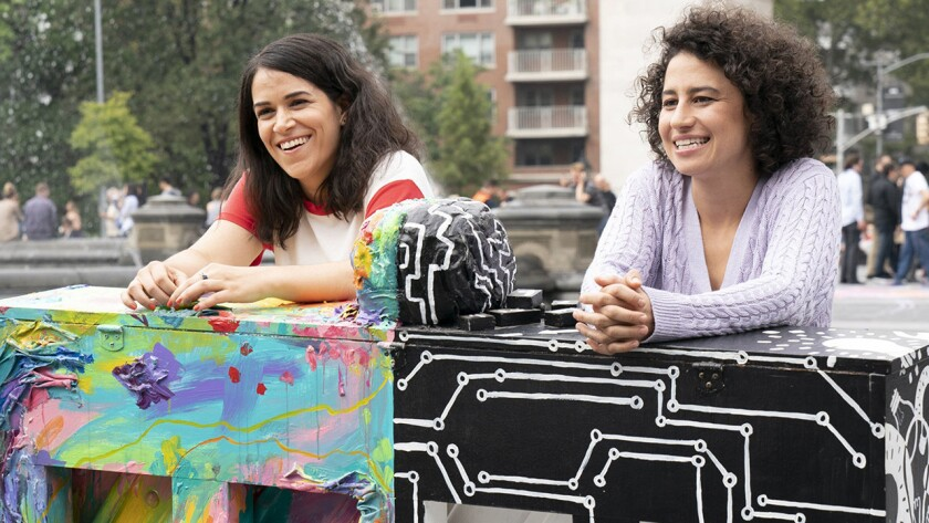 """Abbi Jacobson, left, and Ilana Glazer in the season premiere of """"Broad City"""" on Comedy Central."""