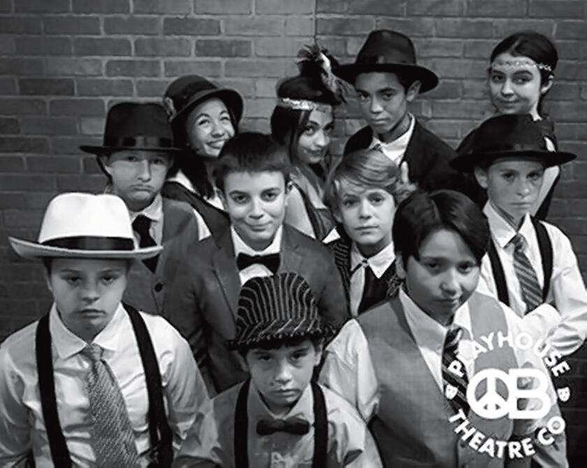 Bugsy Malone Matinees and evenings, April 27-May 20 at OB Theatre Co. Playhouse, 4944 Newport Ave. Based on the 1976 film, the kids' musical tells the tale of Bugsy Malone, a one-time boxer, thrust into the limelight when he becomes the last chance Fat Sam's gang has of surviving ... but all Bugsy wants to do is spend time with his new love, Blousey. Tickets: $14-$24. (619) 795-9305. obtheatrecompany.com