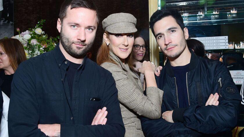 Jack McCollough, Celine Dion and Lazaro Hernandez