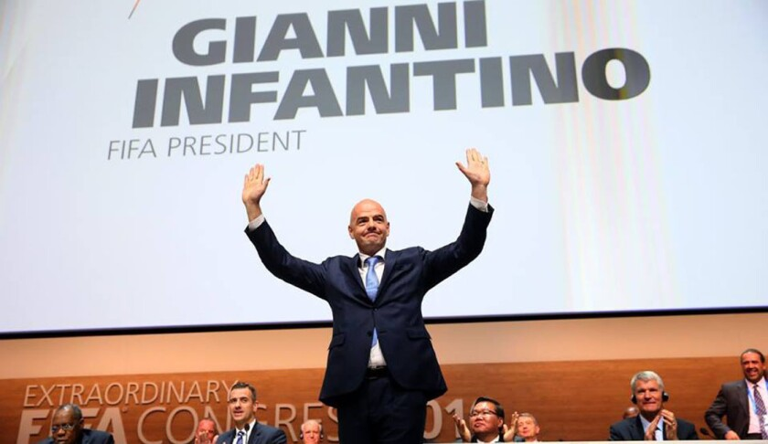 Gianni Infantino, nuevo presidente de la FIFA.