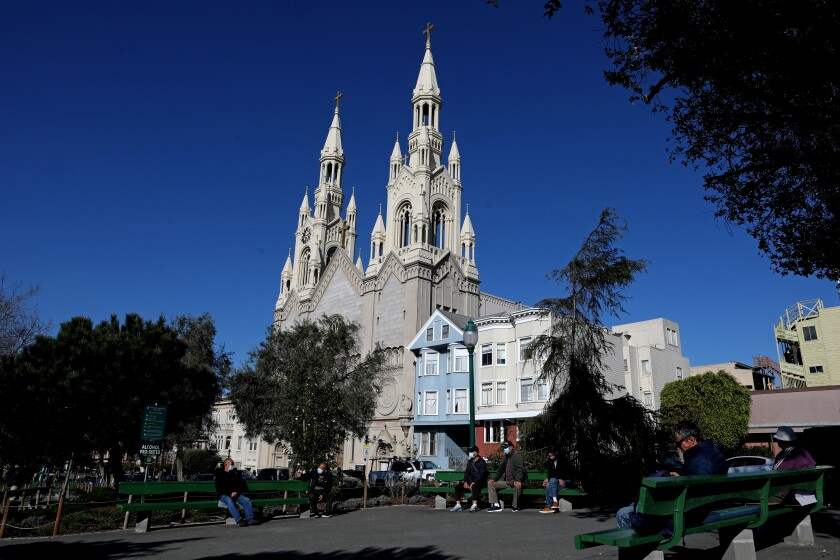 Saints Peter and Paul Church in San Francisco