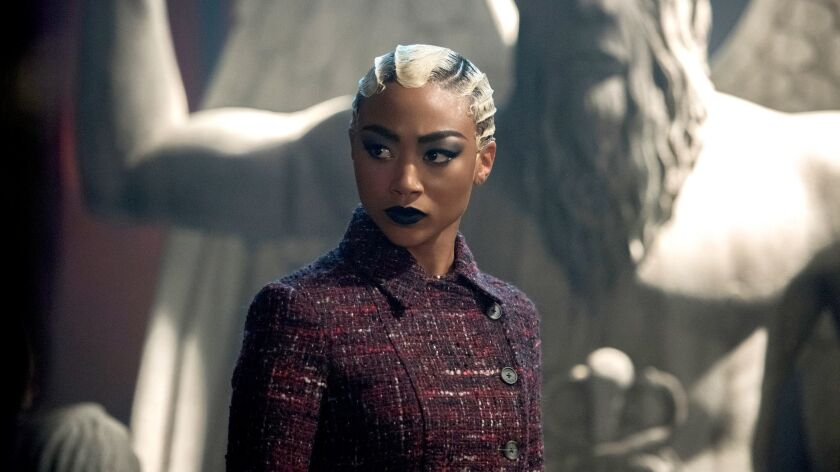 "Tati Gabrielle in the Netflix show ""Chilling Adventures of Sabrina."""
