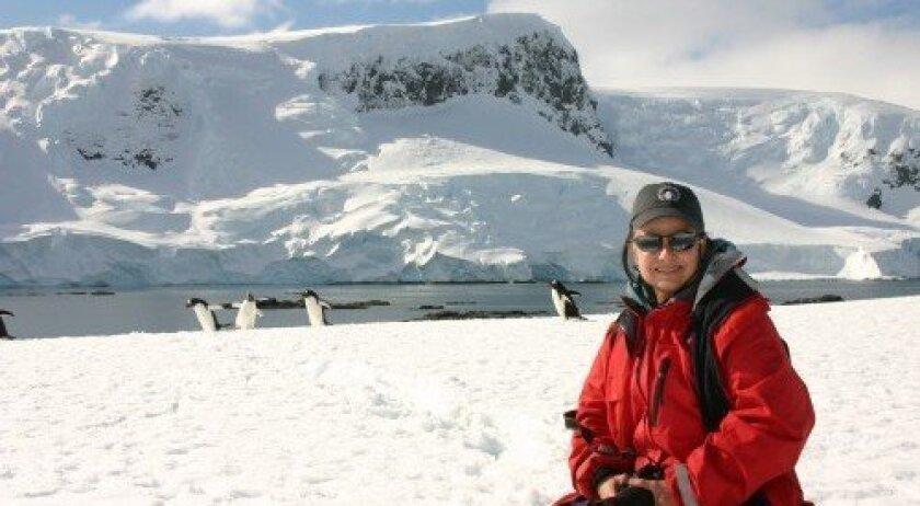 Cynthia Dial in Antarctica