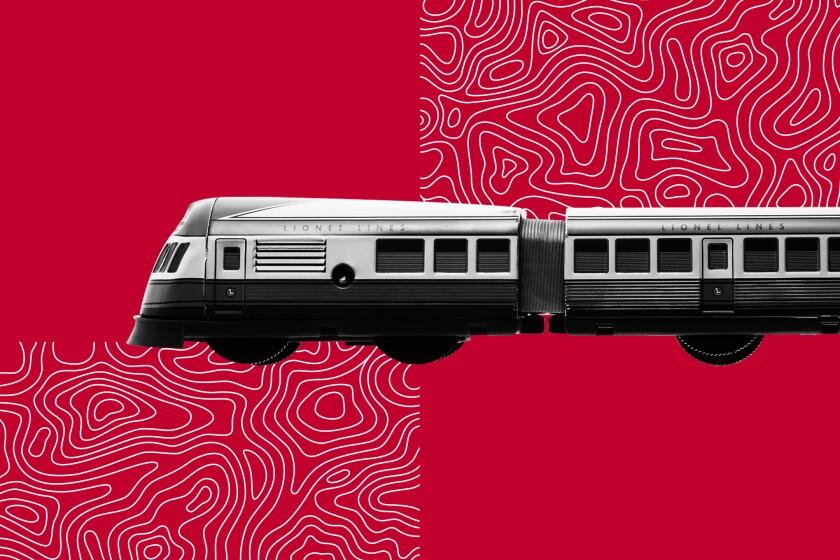 Illustration of train with dreidels