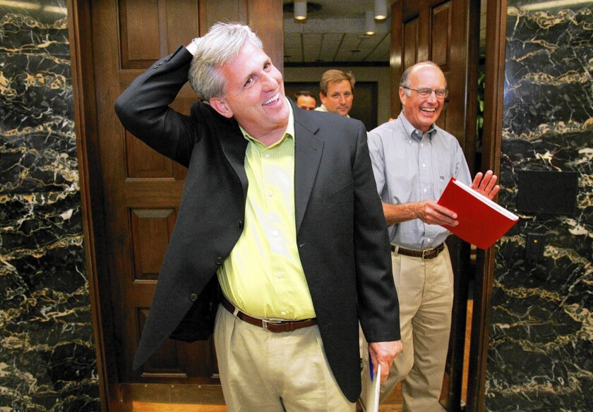 House Majority Whip Kevin McCarthy (R-Bakersfield), pictured in 2005, is expected to become the new majority leader.