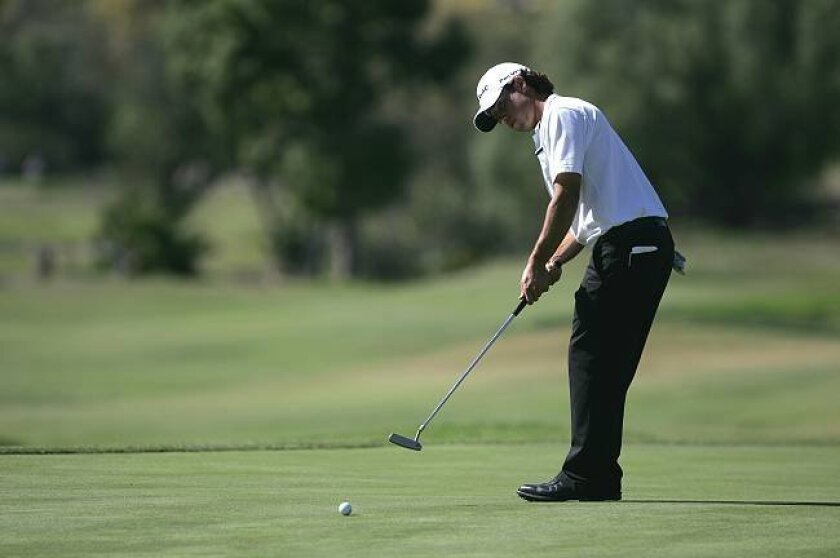 Aaron Goldberg, shown during a tournament last year, shot a 59 at The Farms Golf Club in Rancho Santa Fe on Wednesday.