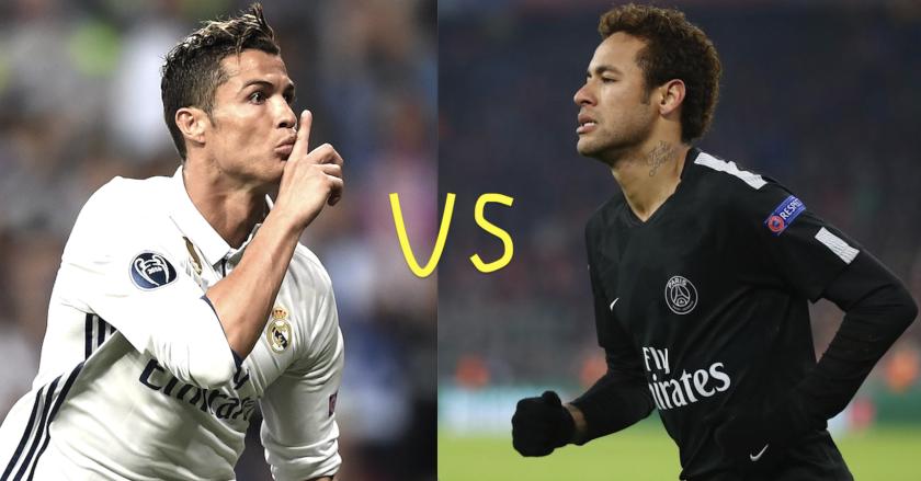 Choque destacado: Real Madrid vs Paris SG; Cristiano Ronaldo vs Neymar.