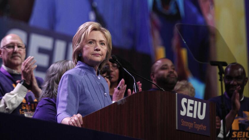 Foto de archivo de la candidata presidencial Hillary Clinton.