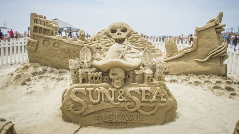 Wild sand sculptures decorate the shore at Imperial Beach's Sun and Sea Festival on July 14.