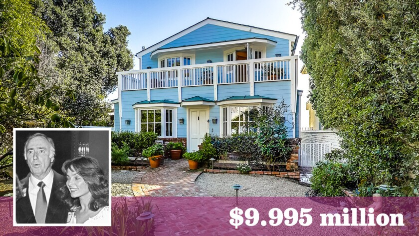 The longtime Malibu home of actress and former pin-up model Dolly Read and her late husband, comedian Dick Martin, is up for sale at $9.995 million.