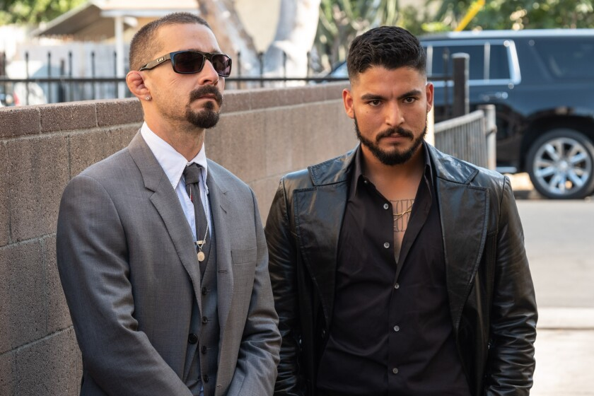 "Shia LeBeouf, left, and Bobby Soto star in ""The Tax Collector,"" directed by David Ayer."