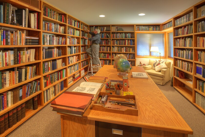 William Least Heat-Moon in his home library