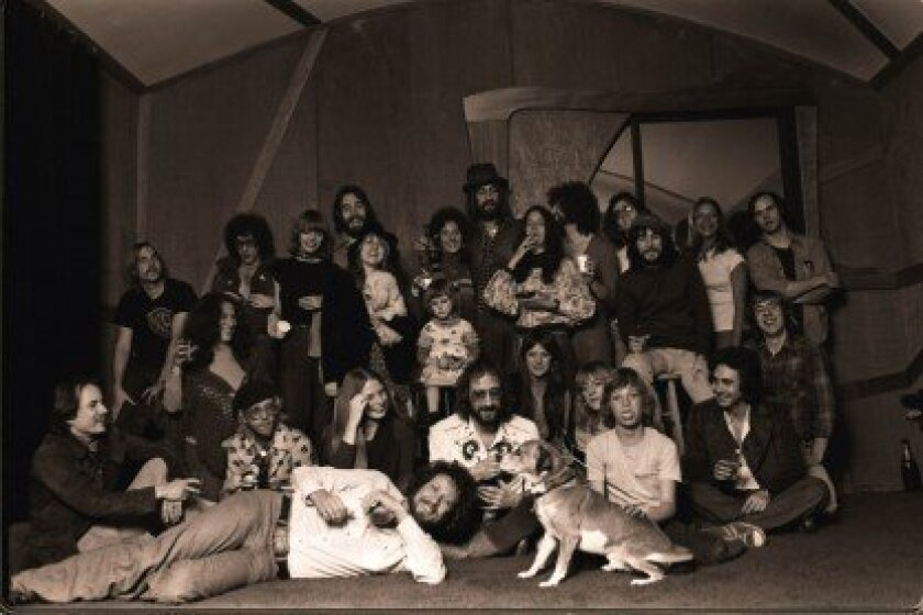 Ken Caillat (back row, third from the left) with Fleetwood Mac and other musicians (including Steve Earl and Bob Welch) during the recording sessions for 'Rumours.' Courtesy