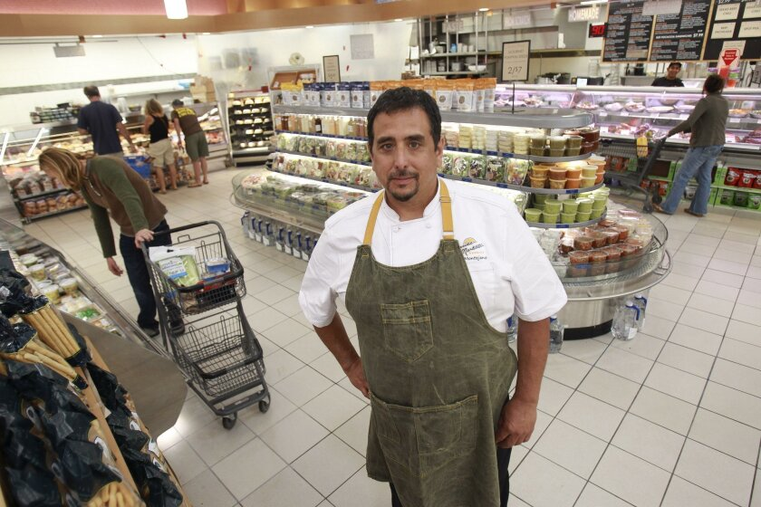 James Montejano, new executive chef for Cardiff Seaside Market, stands in the store's prepared-food area, where many changes are planned in the coming months.