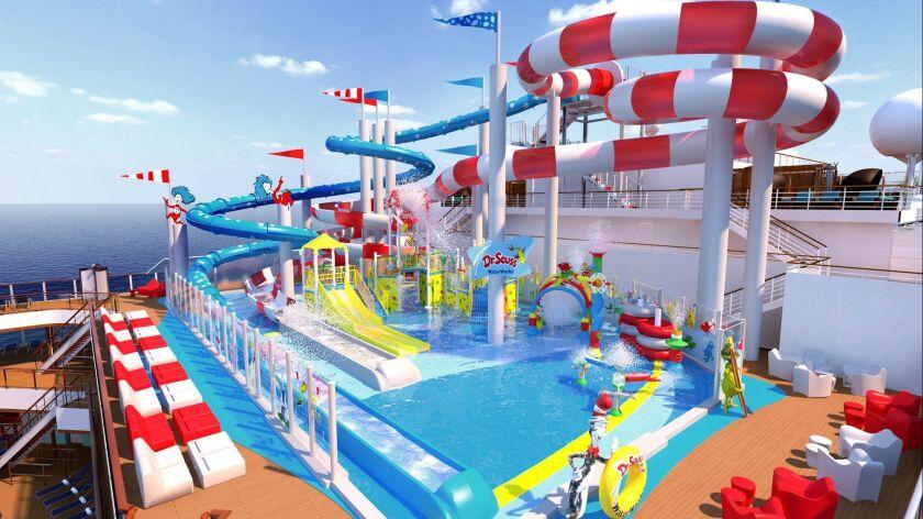 ***RENDERING*** Dr. Seuss WaterWorks – Featured on Carnival Horizon is the new Dr. Seuss WaterWork