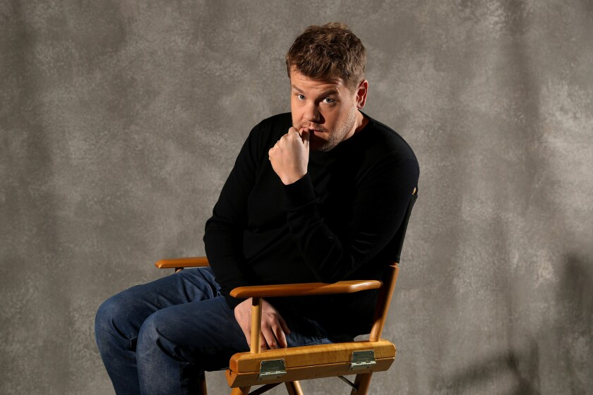 James Corden, the host of The Late Late Show, is photographed at CBS in studio City.