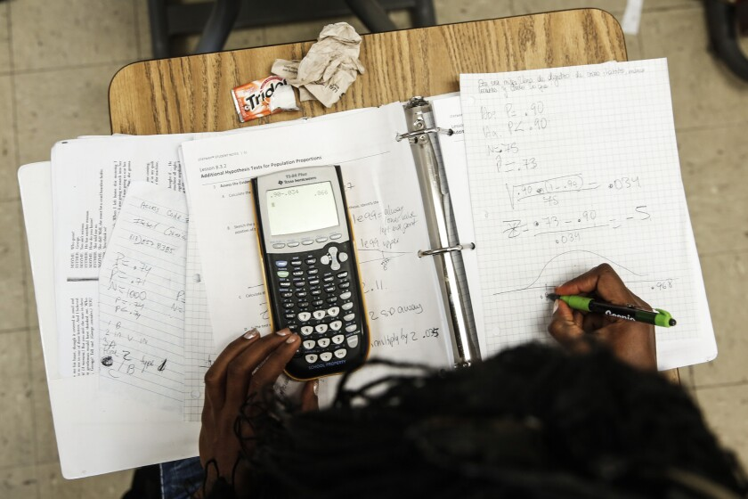 To get to math in college, students have to get through Algebra.