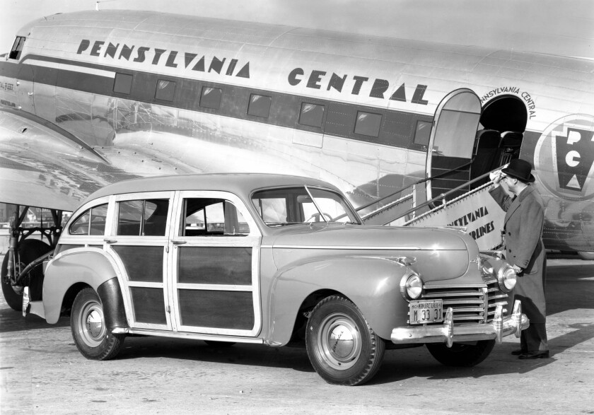 1941 Chrysler Town and Country Barrelback woodie.