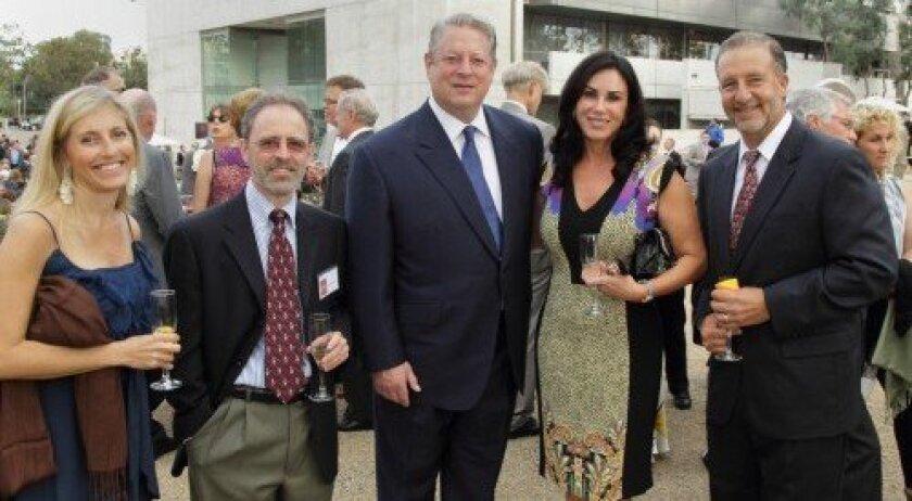 Shara Fisler, Marc Montminy, former Vice President Al Gore, RSF's Liz Keadle and Travis Berggren
