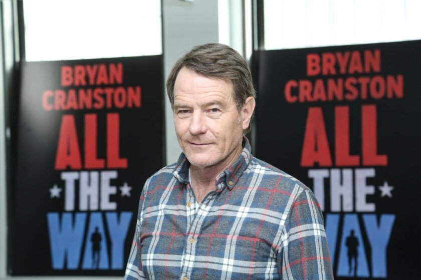 """Bryan Cranston at the """"All The Way"""" press preview in New York on Wednesday."""