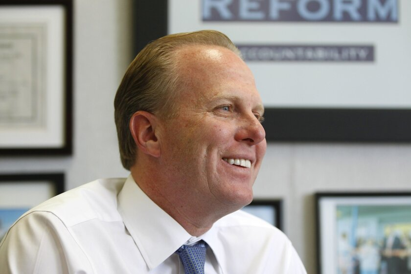 Incoming San Diego Mayor Kevin Faulconer in his office.