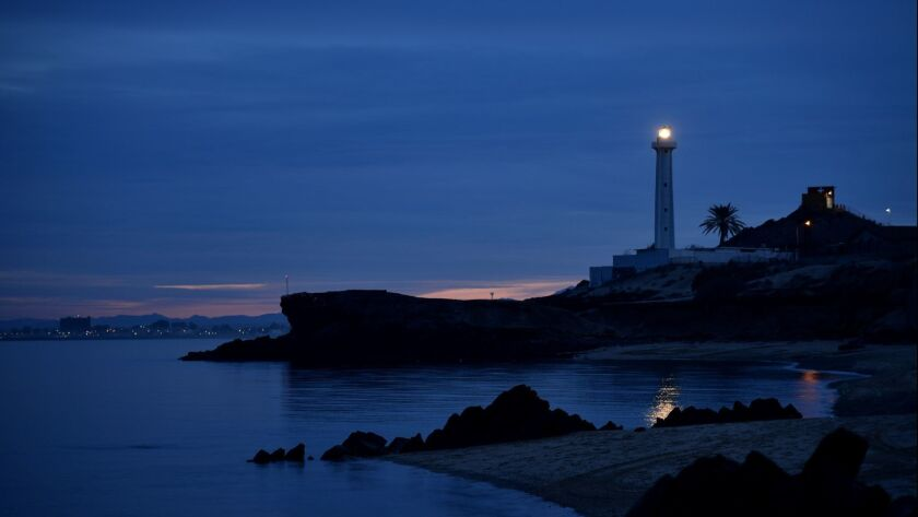 lighthouse light dusk sky Point San Felipe, Sea of Cortez, Baja, Mexico