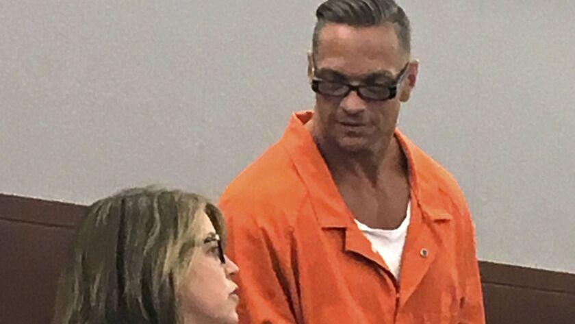 Nevada death row inmate Scott Dozier with Lori Teicher, a federal public defender, in 2017.