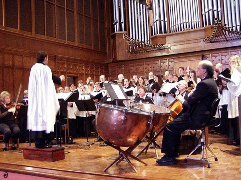 Performance of the Spring Concert at St. Paul's Cathedral in downtown San Diego. Courtesy of St. Paul's.