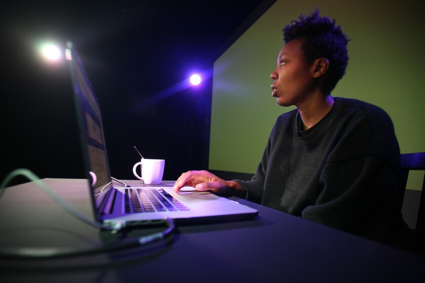 """L.A. artist Martine Syms is staging a performance/lecture at the Broad museum titled """"Misdirected Kiss."""""""